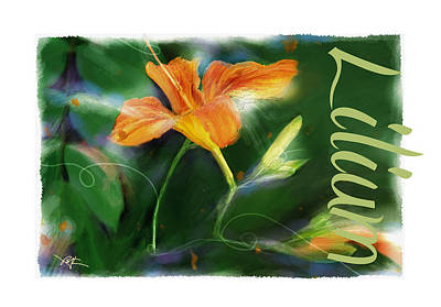 Tiger Lily Painting - Lily by Bob Salo