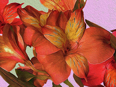 Mixed Media - Lily Bouquet In North Light by Lynda Lehmann