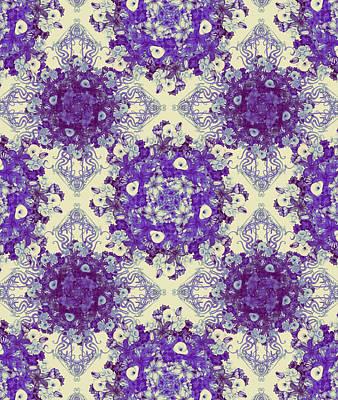 School Teaching - Lily Bouquet Purples by Deborah Runham