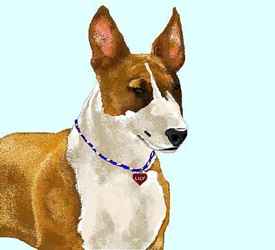 Bull Terrier Digital Art - Lily by Carole Boyd