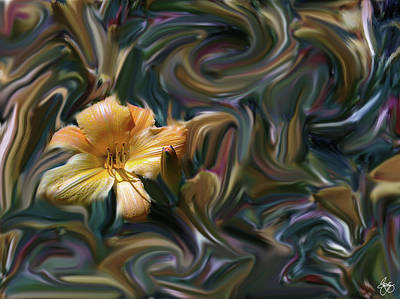Photograph - Lily Chaos Muted by Wayne King