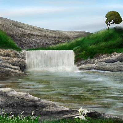 Digital Art - Lily Creek by Mark Taylor
