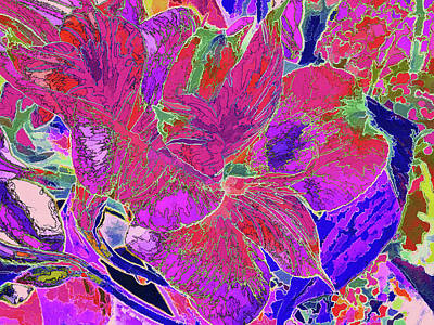 Photograph - Lily Duo 29 by Lynda Lehmann