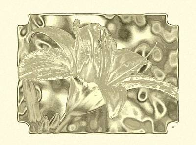 Lilies Digital Art - Lily Elegance 4 by Will Borden
