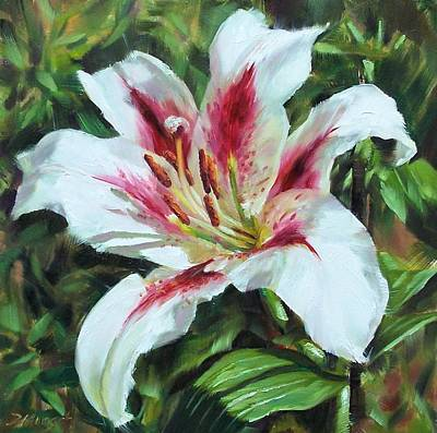 Painting - Lily Impression by Donna Munsch