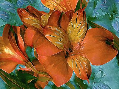 Lilies Mixed Media - Lily in North Light Multi by Lynda Lehmann