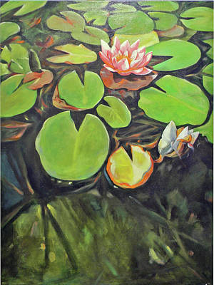 Painting - Lily In The Water by Johannes Margreiter