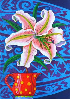 Bright Colours Painting - Lily by Jane Tattersfield