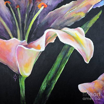 Painting - Lily by Jodie Marie Anne Richardson Traugott          aka jm-ART