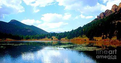 Photograph - Lily Lake - A Colorado Landscape Paintograph by Christine S Zipps