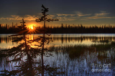 Lily Lake Sunset 2 Art Print