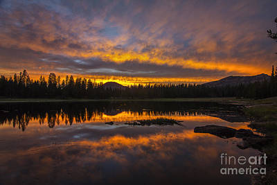 Photograph - Lily Lake Sunset by Spencer Baugh