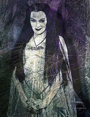 Long Necklace Digital Art - Lily Munster by Absinthe Art By Michelle LeAnn Scott