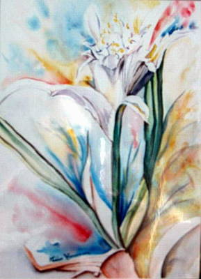 Painting - Lily Of Lebanon by Therese AbouNader
