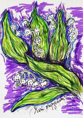 Lilies Mixed Media - Lily Of The Valley by Geraldine Myszenski