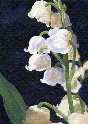 Lily Of The Valley Painting - Lily Of The Valley by Lynne Reichhart