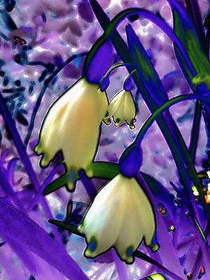 Photograph - Lily Of Valley Abstract by Beth Akerman