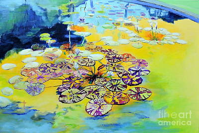 Painting - Lily Pad Dreams by Jodie Marie Anne Richardson Traugott          aka jm-ART