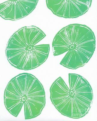 Print Making Painting - Lily Pad Motif by Anne Seay
