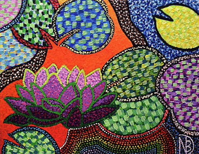 Painting - Lily Pad Pizzaz by Nicole Dumond-Barry