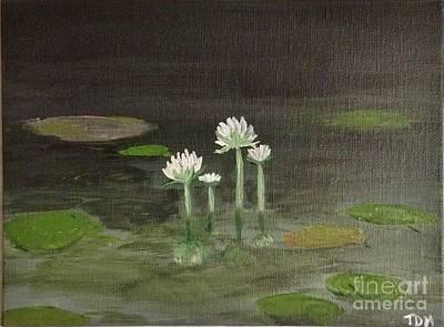 Acrylic Painting - Lily Pad Pond by Mesa Teresita