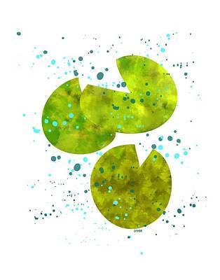 Lily Pad Rain Art Print