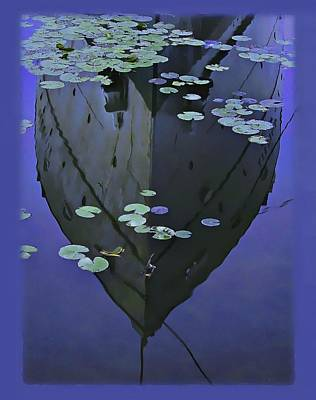 Lily Pads And Reflection Art Print by John Hansen