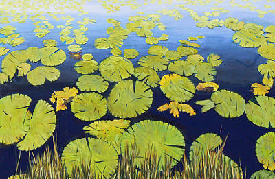Painting - Lily Pads by Lawrence Holofcener