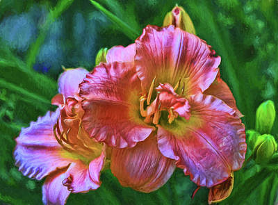 Photograph - Lily - Photopainting by Allen Beatty