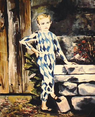Lily Pierrot Art Print by John Keaton