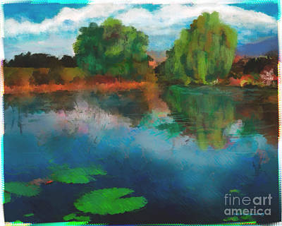 Ebsq Digital Wall Art - Photograph - Lily Pond A La Torrie by Dee Flouton