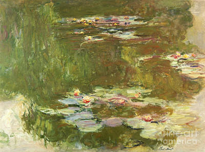 Lilies Painting - Lily Pond by Celestial Images