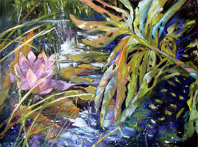 Painting - Lily Pond Light Dance by Rae Andrews