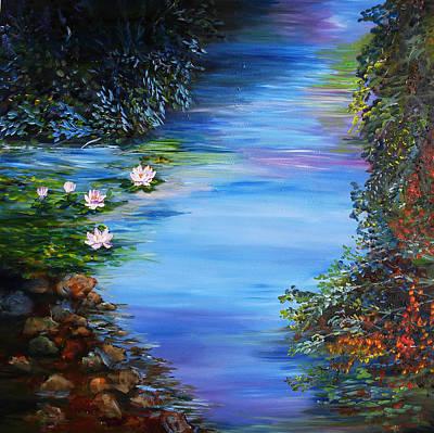 Lily Pond Art Print by Mary Jo Zorad
