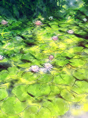 Painting - Lily Pond by Methune Hively
