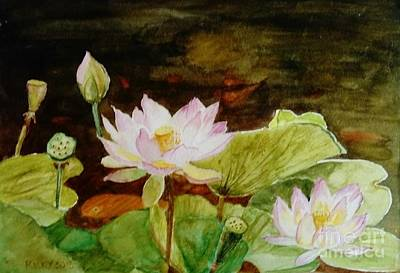 Painting - The Lily Pond - Painting  by Veronica Rickard