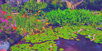 Lilly Pond Mixed Media - Lily Pond by Sandra Selle Rodriguez