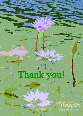 Photograph - Lily Pond Thank You Card by Barbie Corbett-Newmin