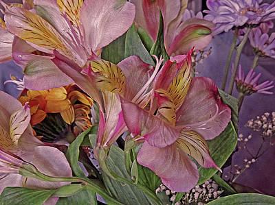 Lilies Mixed Media - Lily Profusion 7 by Lynda Lehmann