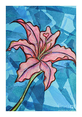 Mixed Media - Lily by Rebecca Weeks Howard