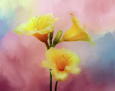 Photograph - Lily Trio - Painted by Nikolyn McDonald