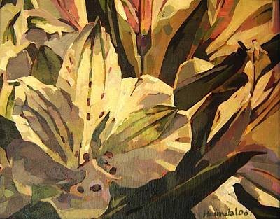 Art Print featuring the painting Lily White by Tim  Heimdal