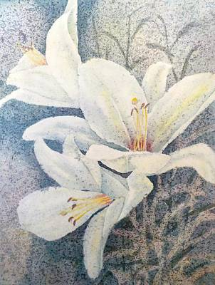 Painting - Lily Whites by Carolyn Rosenberger