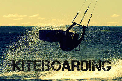 Surf Digital Art - Lily Winds Kiteboarding by Lily Winds