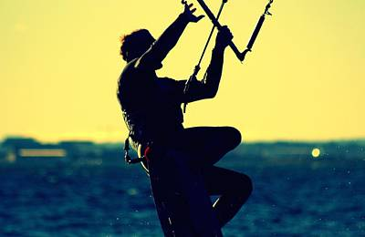 Kiteboarding Photograph - Lily Winds Kitesurfing Blue by Lily Winds