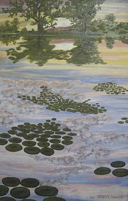 Painting - Lilypads In Sunrise Water by Jill Annette Johnson