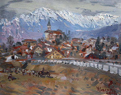 Village Church Painting - Limana, Belluno, Italy by Ylli Haruni