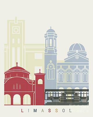 Limassol Skyline Poster Art Print