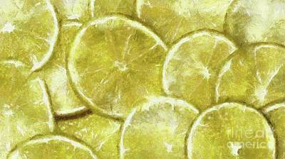 Lime Abstract By Sarah Kirk Art Print