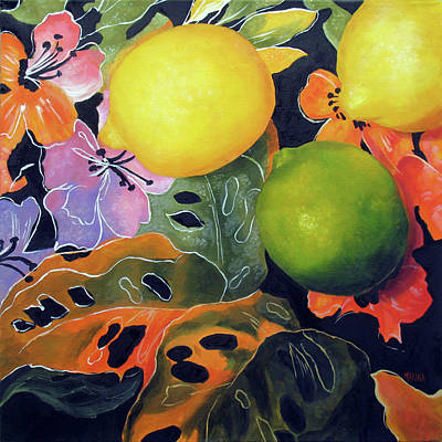 Painting - Lime And Lemons by Marina Petro